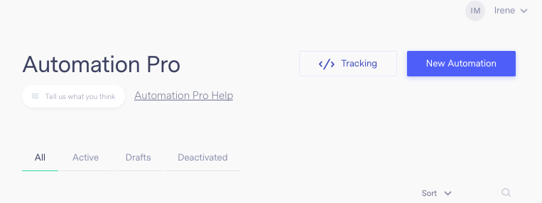How does Benchmark Email Track website activity